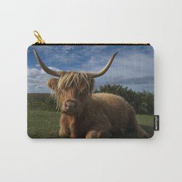 Rugged Highland Cow Carry-All Pouch