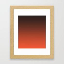 Black and orange. Gradient.  Ombre. Framed Art Print