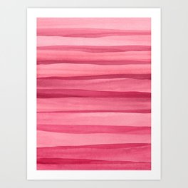 Pink Watercolor Lines Art Print