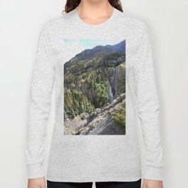 The Uncompahgre Gorge - From the Base of Bear Creek Falls Long Sleeve T-shirt