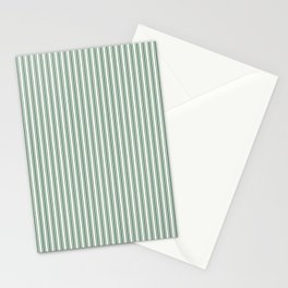 Classic Small Green Boot Green French Mattress Ticking Double Stripes Stationery Cards