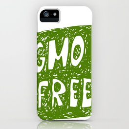 GMO FREE iPhone Case