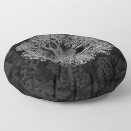Jellyfish (Black and White) Floor Pillow