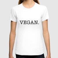 vegan T-shirts featuring VEGAN. by Word