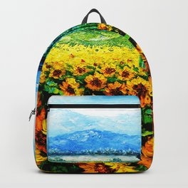 tardis and flowers Backpack