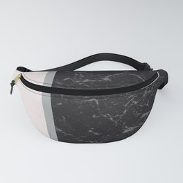 Grey Black Marble Meets Romantic Pink #2 #decor #art #society6 Fanny Pack