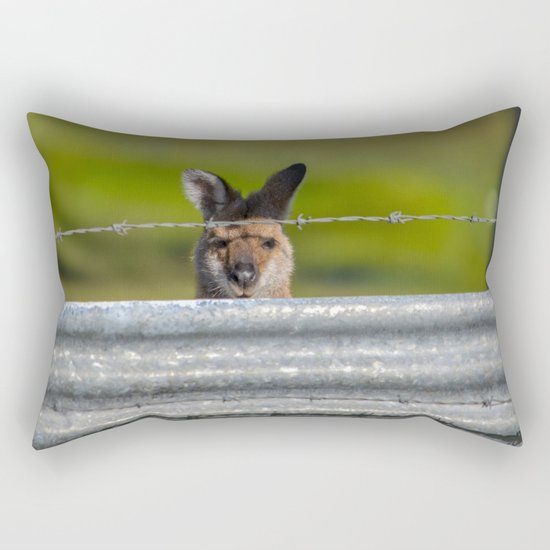Can I come in? Rectangular Pillow