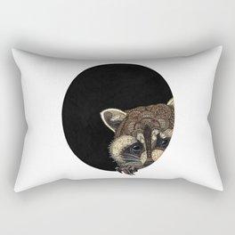 Socially Anxious Raccoon Rectangular Pillow