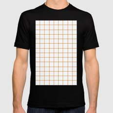 Grid (Bronze/White) Mens Fitted Tee MEDIUM Black