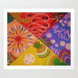 My Triangular Abstract Art Print