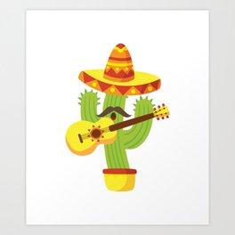 Tequila Fiesta Cinco De Mayo Funny Art Print