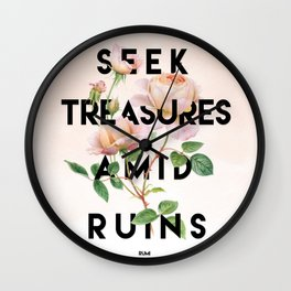 Seek Treasure Wall Clock