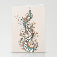 peacock Stationery Cards featuring Peacock by Tracie Andrews