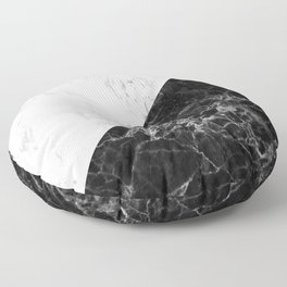 white and black marble  Floor Pillow