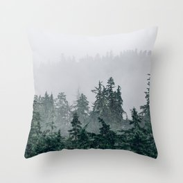 The Faded Fog Throw Pillow