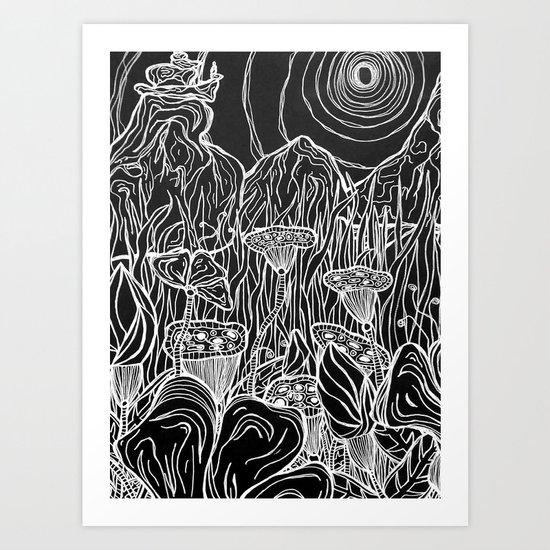 Linear Landscape Art Print