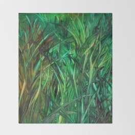 This Grass is Greener Throw Blanket