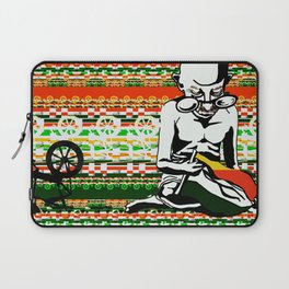 Ghandi and his Spinning Wheel Laptop Sleeve