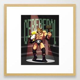 Triple H - Cerebral Framed Art Print