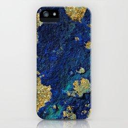 Indigo Teal and Gold Ocean iPhone Case