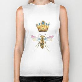 Watercolor Queen Bee, By Heidi Nickerson Biker Tank