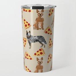 Australian Cattle Dog pizza slice pet friendly dog breed dog pattern art Travel Mug