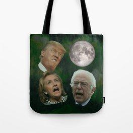 Three Politician Moon Tote Bag