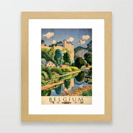 plakat Belgium Framed Art Print
