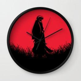 Red Moon Inuyasha Wall Clock