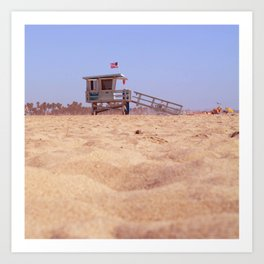 Sunbathing at Venice Beach - Los Angeles Iconic Art Print