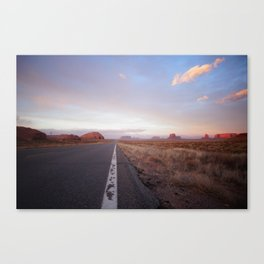 Down the road - Monument Vallet Canvas Print
