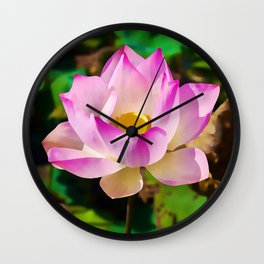 The Sacred Lotus | Watercolor Painting Wall Clock