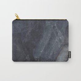 Navy Blue Marble Carry-All Pouch