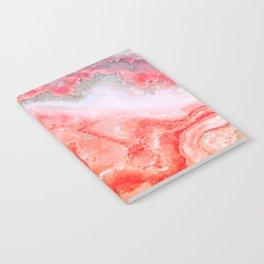 Luxury LIVING CORAL Agate Marble Geode Gem Notebook