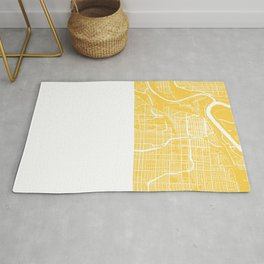 Kansas City map yellow Rug