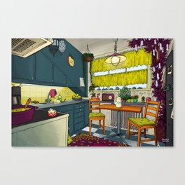 Cozy kitchen Canvas Print