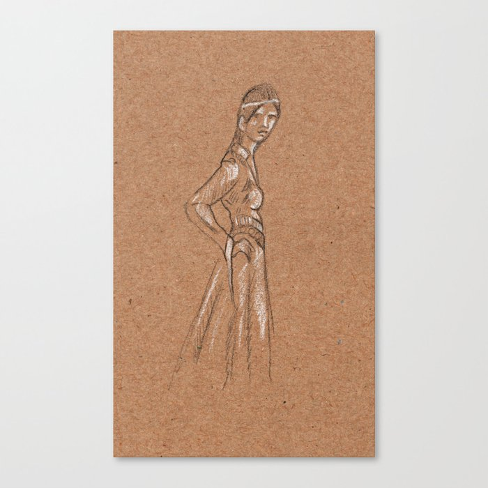 Girl from another time Canvas Print