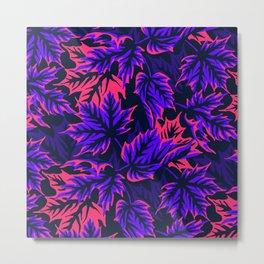 Leaves - purple/pink Metal Print