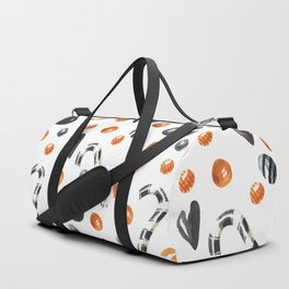Happy halloween pattern with candies and lollipops Duffle Bag