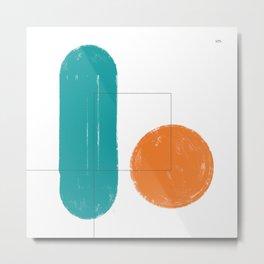 simple forms Metal Print
