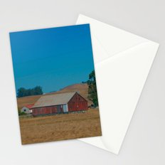 Red Barn in Napa Stationery Cards