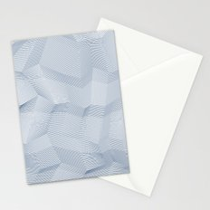 Facets - White and dark blue Stationery Cards
