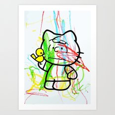Mr. Scribbles Art Print