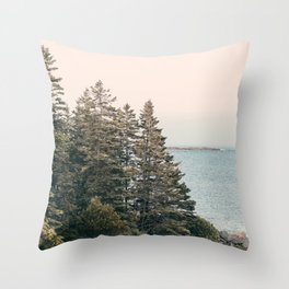 Maine Pines Throw Pillow