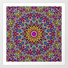 Vivid Life Mandala Art Print