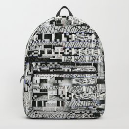 Confused Images Behind the Interface (P/D3 Glitch Collage Studies) Backpack