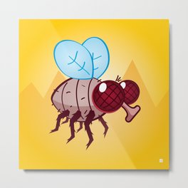 Larry the Fly Metal Print