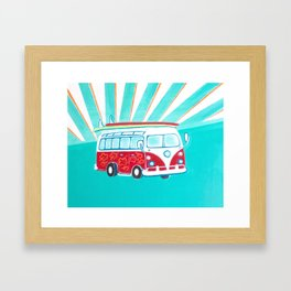 Surfer Sunrise Framed Art Print