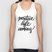 positive Tank Tops featuring POSITIVE by Henrique Nobrega