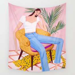 Bohemian Pink Room Wall Tapestry